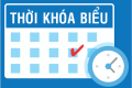 Thời khóa biểu từ Tuần 26 học kỳ 2 năm học 2018 – 2019