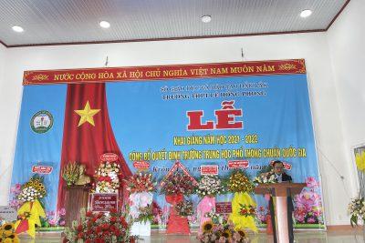 Hình ảnh Lễ khai giảng năm học 2021-2022 và đón nhận Bằng công nhận đạt chuẩn quốc gia mức độ 1